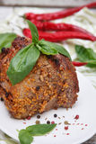 Carne roasted deliciosa Fotografia de Stock