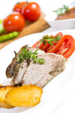 Carne Roasted do cordeiro Foto de Stock Royalty Free
