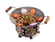 Carne Roasted do cordeiro na bacia tradicional Fotos de Stock