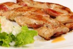 Carne roasted quente e deliciosa Fotografia de Stock