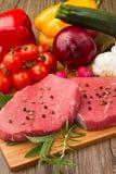 Carne rossa con le verdure Fotografia Stock Libera da Diritti