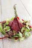 Carne saboroso no fundo branco Foto de Stock Royalty Free
