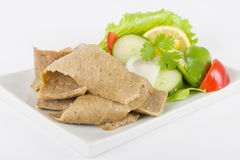 Carne & salada de Donner foto de stock