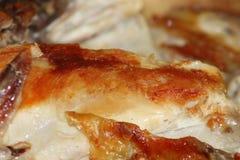 Carne saporita del pollo fritto immagine stock
