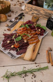 Carne secada Fotos de Stock