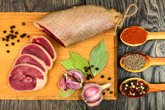 Carne secada do pato Imagens de Stock