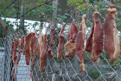 Carne secada na comunidade de Hong Kong Fotografia de Stock