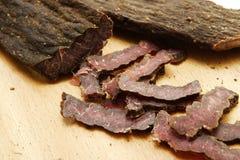 Carne secca affettata Fotografie Stock Libere da Diritti