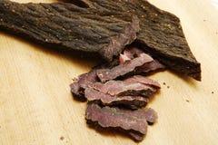 Carne secca affettata Immagine Stock Libera da Diritti