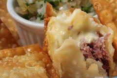 Carne secca pasticceria con formaggio Fotografia Stock