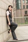 Mulher de negócio segura Foto de Stock
