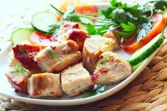 carne, seno di tacchino o pollo arrostito Immagini Stock