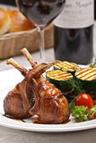 Carne servita dell'agnello Fotografia Stock