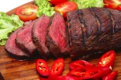 Carne servita dell'arrosto Fotografie Stock