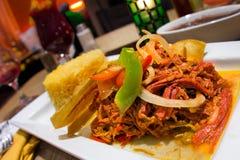 Carne Shredded espanhol de Ropa Vieja Fotografia de Stock Royalty Free