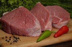 Carne sin procesar Imagen de archivo libre de regalías
