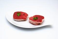 Carne sin procesar de la carne de vaca Foto de archivo libre de regalías