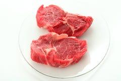 Carne sin procesar de la carne de vaca imagen de archivo