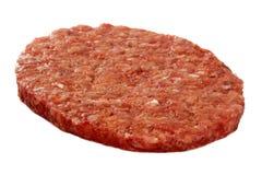 Carne sin procesar de la hamburguesa Imagenes de archivo