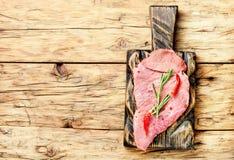Carne sin procesar de la carne de vaca Fotos de archivo libres de regalías