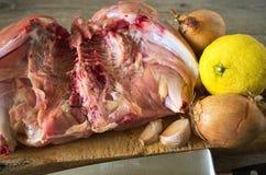 Carne sin procesar del pollo Fotografía de archivo
