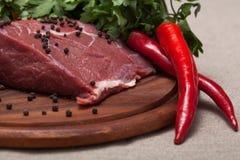 Carne sin procesar fresca Fotografía de archivo libre de regalías