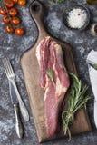 Carne sin procesar fresca de la carne de vaca Imagenes de archivo