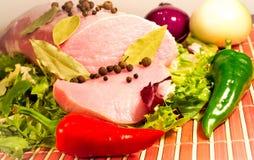 Carne sin procesar rebanada Foto de archivo libre de regalías
