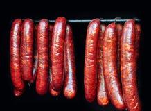 Carne smoaked salsiccia Fotografia Stock Libera da Diritti