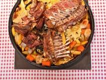 Carne sob um sino Foto de Stock Royalty Free