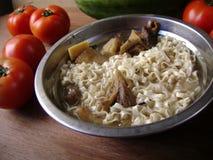 Carne Stew Noodle Soup imagem de stock