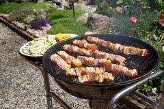 Carne sui carboni Fotografie Stock Libere da Diritti