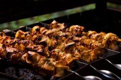 Carne sui carboni Fotografie Stock