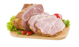 Carne suina affumicata Fotografia Stock