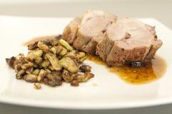 Carne suina con salsa Immagine Stock