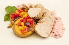 Carne suina con sesamo Immagine Stock