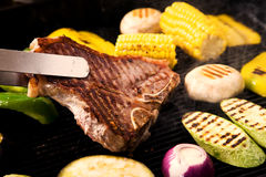 Carne suina cotta Immagini Stock Libere da Diritti