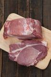 Carne suina fresca su un taglio Fotografie Stock