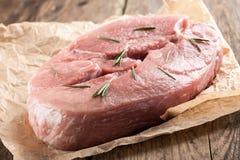 Carne suina grezza Fotografia Stock