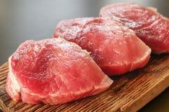 Carne suina grezza Immagini Stock