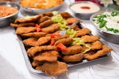 Carne suina slovacca dell'alimento sulla tavola di buffet Fotografia Stock Libera da Diritti