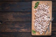 Carne suina tagliata Immagini Stock