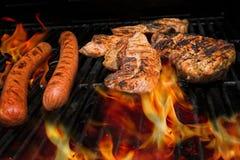 Carne sulla griglia Fotografia Stock Libera da Diritti