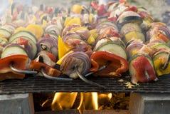 Carne sulla griglia, barbecue Fotografia Stock Libera da Diritti