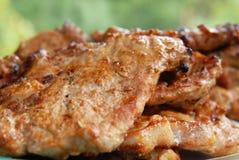 Carne sulla griglia, barbecue Fotografia Stock