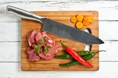 Carne tagliata Fotografia Stock
