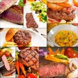 A carne torna côncava a colagem Fotos de Stock
