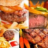 A carne torna côncava a colagem Fotografia de Stock