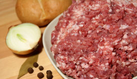 Carne tritata Fotografia Stock Libera da Diritti