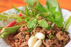 Carne tritata cruda Fotografia Stock